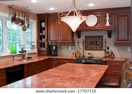 Home Interior Kitchen - stock photo