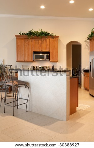Home Interior Kitchen - stock photo