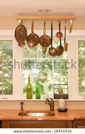 Home Interior- Kitchen Sink - stock photo