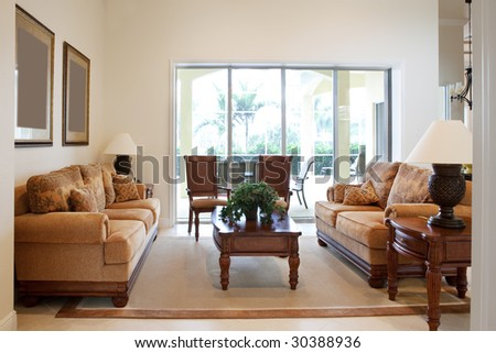 Home Interior, Living Room With Couches