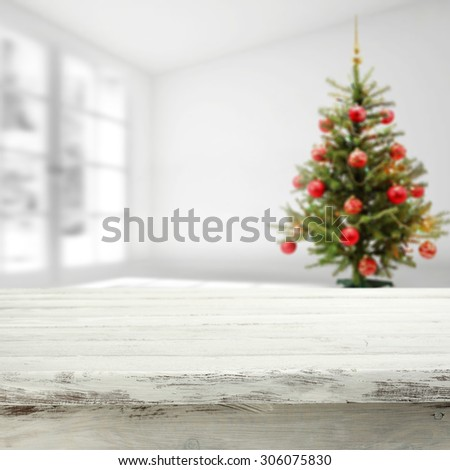 home interior place and white window space and background table  - stock photo