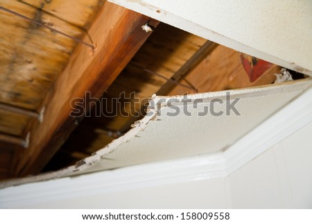 Home Interior Water leaking damage for background - stock photo