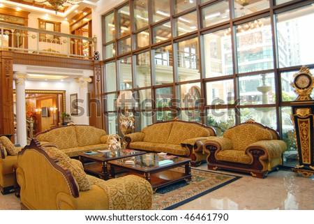 Home interior with European style - stock photo