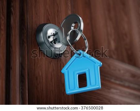 Home key concept - stock photo