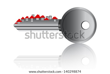Home key icon. Isolated on white