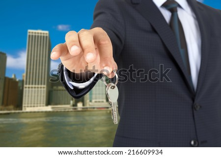 Home Key with hand