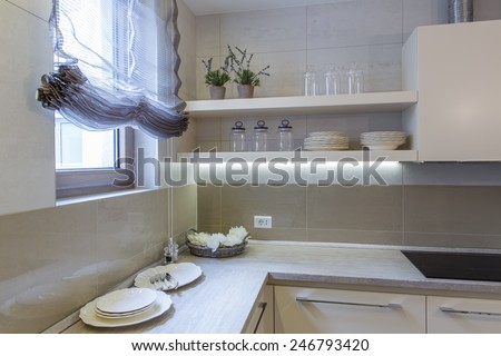 Home kitchen details - stock photo