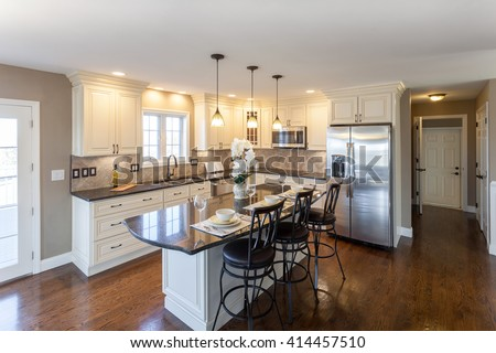 Home Kitchen Interior - stock photo