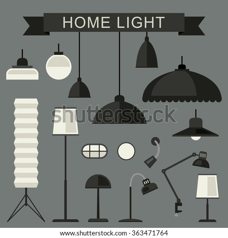 Home lamps icons.