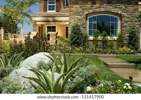 Home Landscaping - stock photo