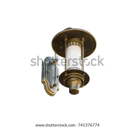 Home Lighting Made of brass isolated on white background