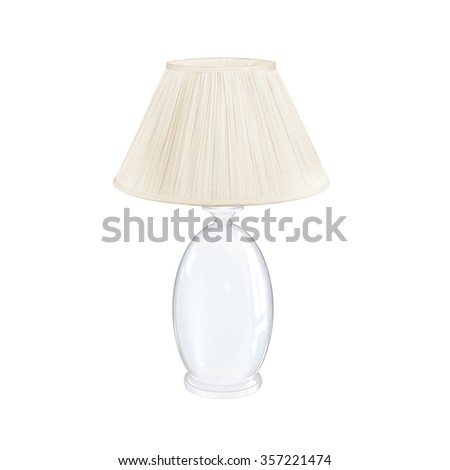 Home lighting vintage white table lamp isolated on white background