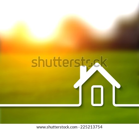 Home line concept illustration - stock photo