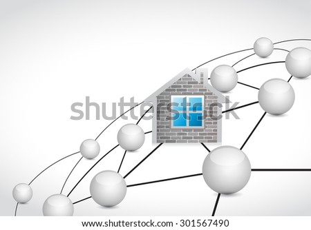 home link sphere network connection concept illustration design graphic background - stock photo