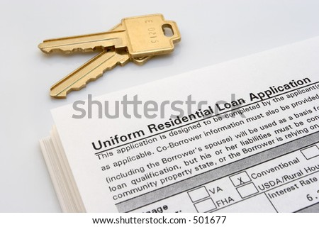 Home loan paperwork - stock photo