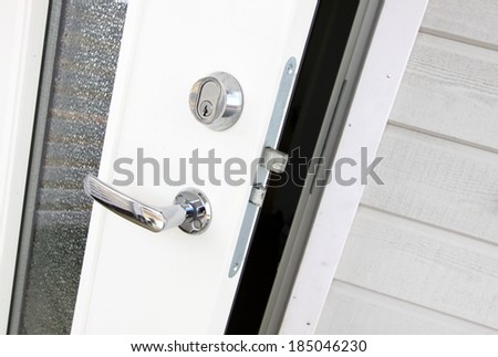 Home lock - stock photo