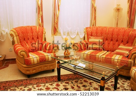Home luxurious furniture picture. - stock photo