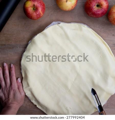 Home made apple pie - stock photo