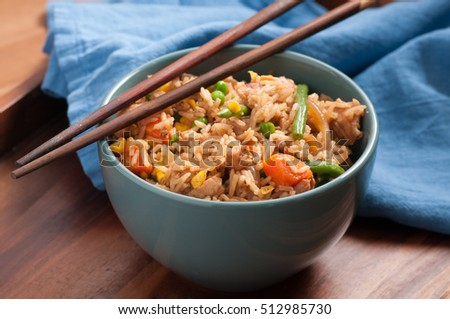 how to cook chicken fried rice at home