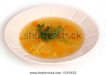 Home made chicken soup - stock photo