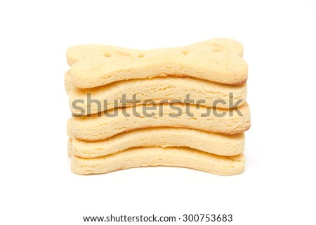 Home made dog biscuit  Isolated on White Background