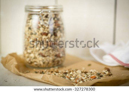 Home Made Musli - stock photo