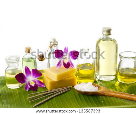 Home-made soap in wellness still life