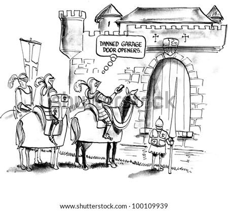 Home Maintenance Problem Garage Door Opener Stock Illustration