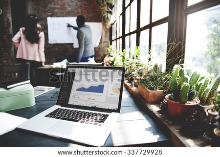 Home Office Design Workspace Room Concept - stock photo