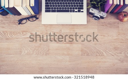 Home office header image - stock photo