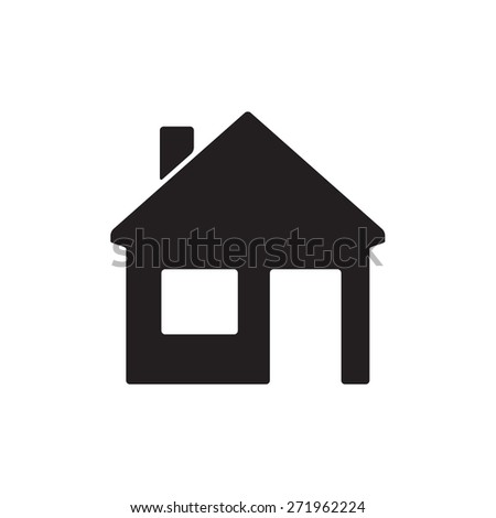 Home or house icon on white background. Real estate design element.  - stock photo