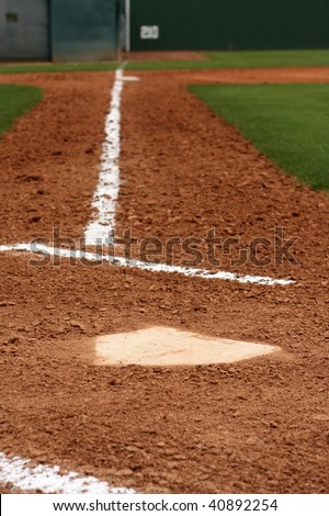 Home plate with third base beyond