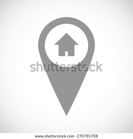 Home pointer web black icon on a white background