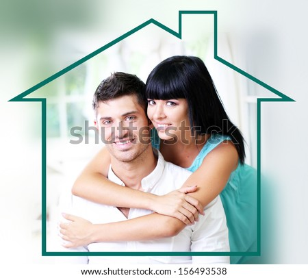 Home, real estate and family concept - stock photo