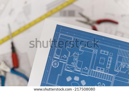 Home Renovation Plans - stock photo