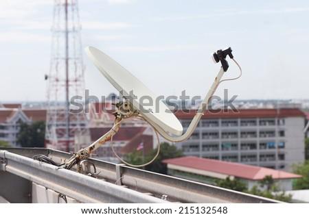 home satellite dish  - stock photo