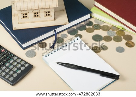 home savings budget concept model house stock photo royalty free