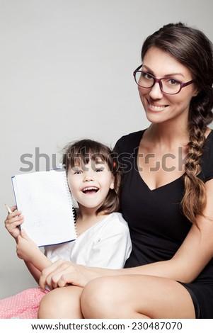 home Schooling - stock photo
