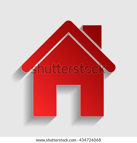 Home silhouette illustration - stock photo