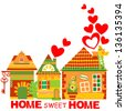 Home Sweet Home Set, Raster Version - stock photo