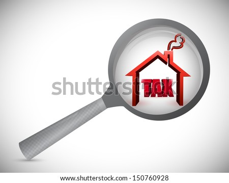 home tax review investigation illustration design over white