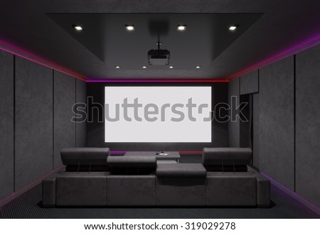 Home Theater Interior. 3d Illustration. Part 78