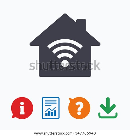 Home Wifi Sign. Wi Fi Symbol. Wireless Network Icon. Wifi Zone.
