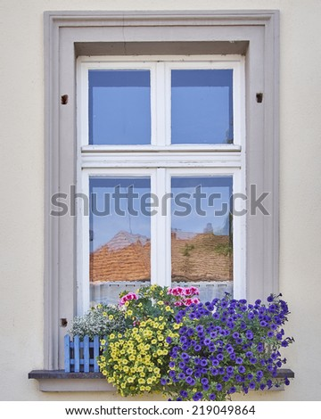 home window and flowers, Bamberg, Germany