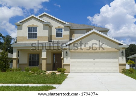 Home with blue sky and clouds background 15