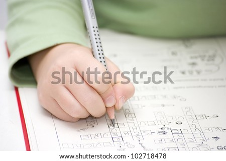 home work - stock photo