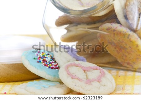 homemade allergen free cookies in jar