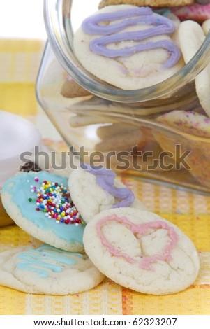 homemade allergen free cookies in jar - stock photo