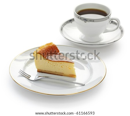 Homemade Baked Cheese Cake and Coffee