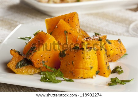 Homemade Baked Sweet Potato against a background - stock photo